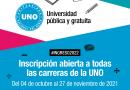 La UNO abre la inscripción para el 2022